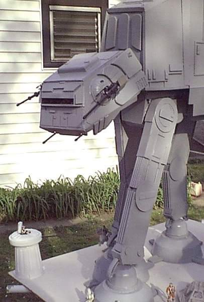 Michael Fright Fiction Author | In The News | Star Wars model AT AT Walker