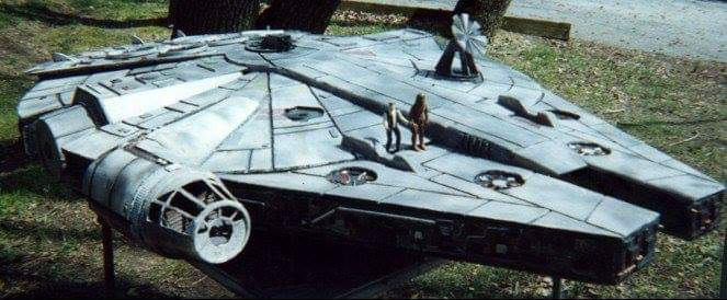 Michael Fright Fiction Author   In The News   Star Wars model AT Millennium Falcon