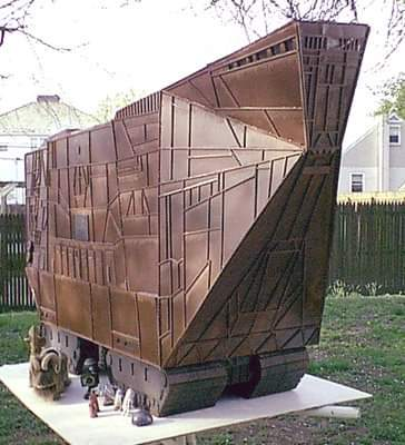 Michael Fright Fiction Author | In The News | Star Wars model Sandcrawler